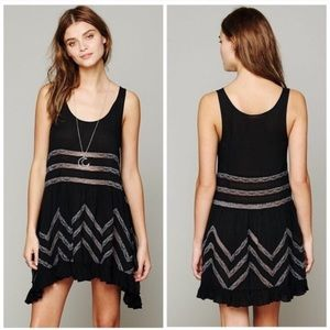 Free People intimately Black Lace Voila Slip dress